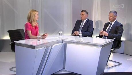 25.05.2018, Krzysztof Kielec - prezes K-SSSE, Wojciech Turczyński - dziennikarz TVP3 Gorzów Wielkopolski