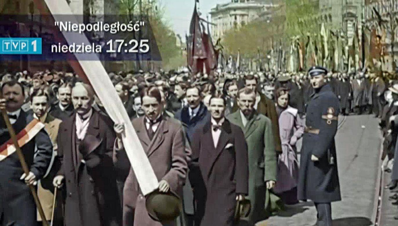 Film powstał dzięki odnalezieniu unikatowych materiałów (fot. TVP Info)