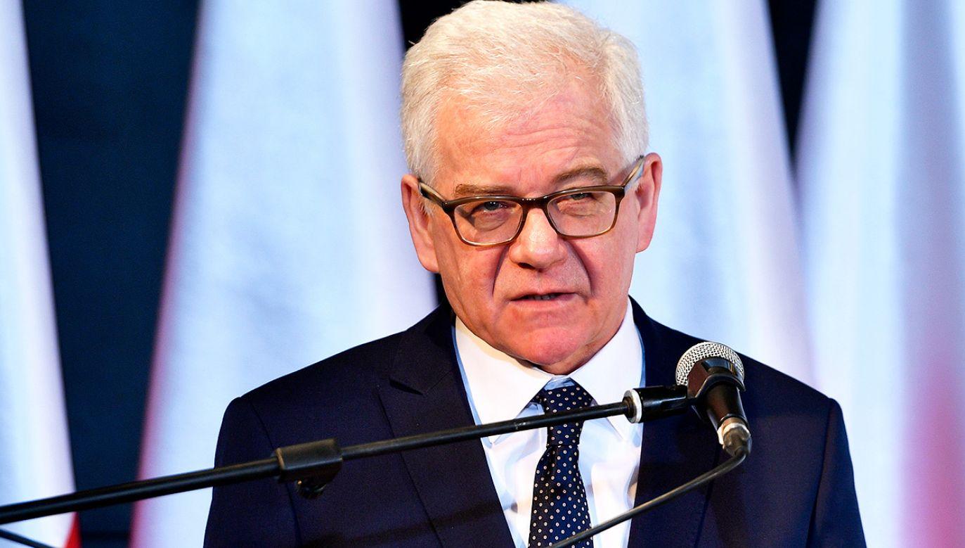 Szef MSZ Jacek Czaputowicz (fot. PAP/Darek Delmanowicz)