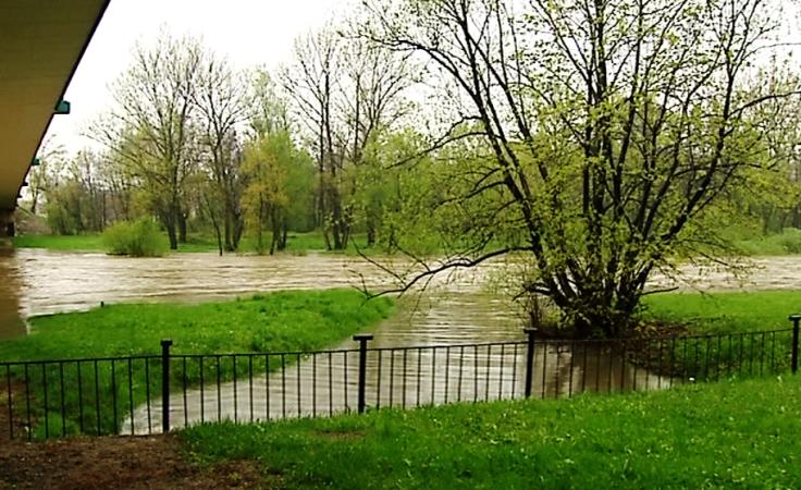 Rzeka Soła w Oświęcimiu (fot. TVP3 Kraków)