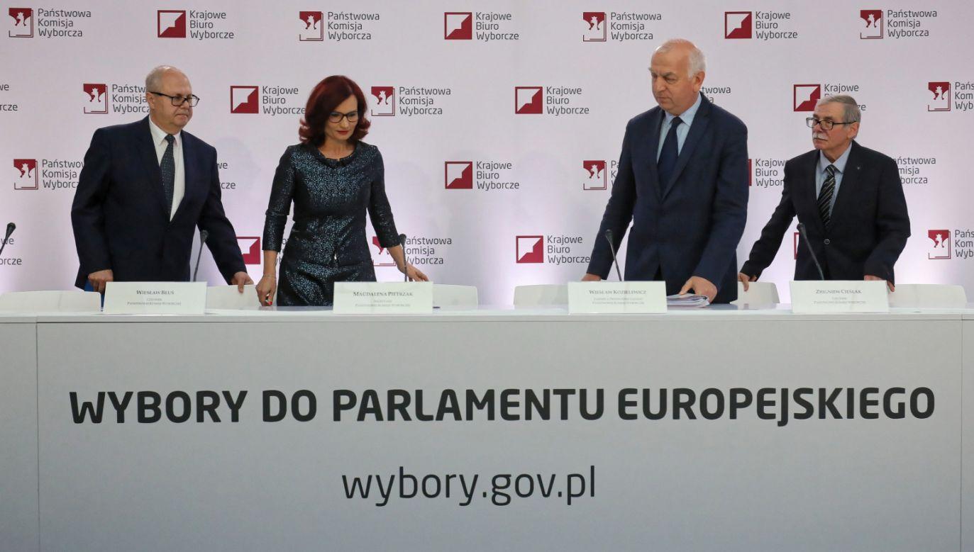 Konferencja prasowa PKW (fot.  PAP/Paweł Supernak)
