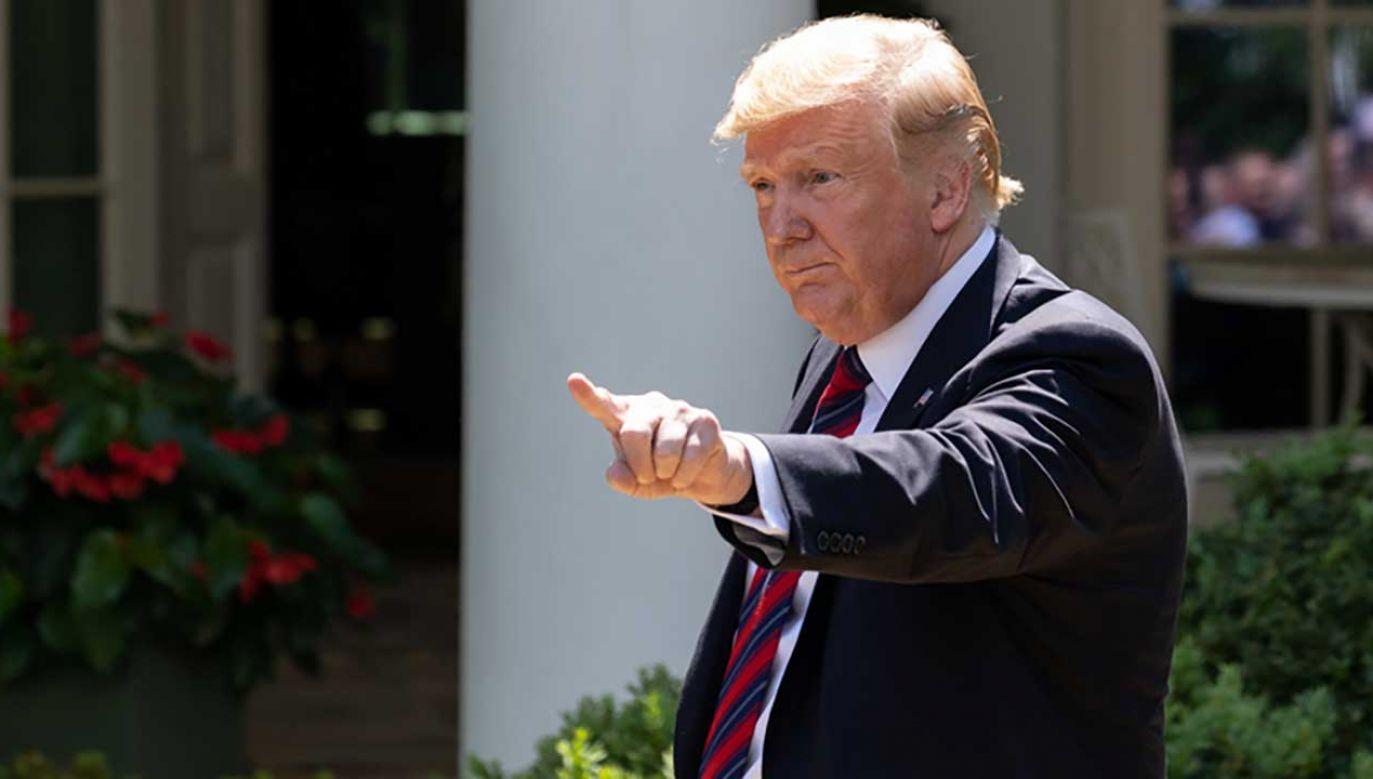 Prezydent USA Donald Trump ostrzegł za pomocą serwisu Twitter władze Iranu przed eskalacją konfliktu (fot. Cheriss May/NurPhoto via Getty Images)