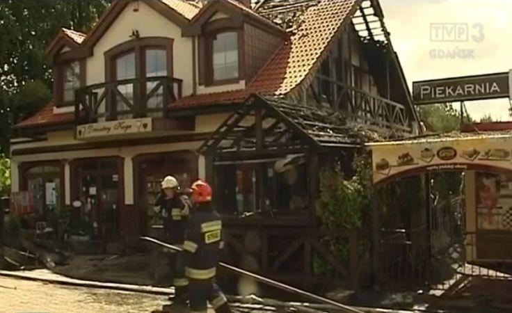 Pożar w nadmorskiej miejscowości Poddąbie
