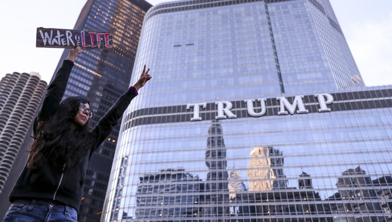 Trump Tower Chicago jest drugim co do wysokości wieżowcem w tym mieście (fot. Bilgin S. Sasmaz/Anadolu Agency/Getty Images)
