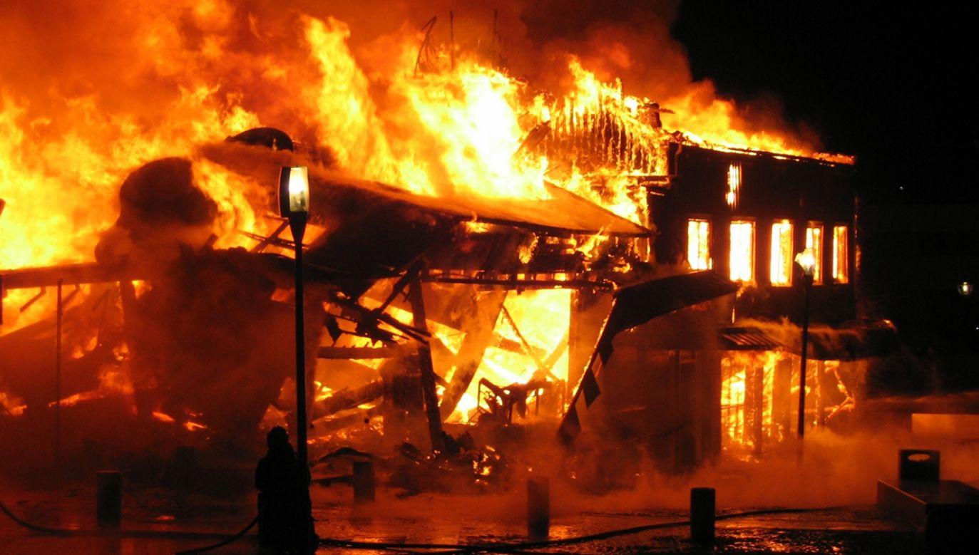 W gaszeniu pożaru brało udział siedem zastępów straży pożarnej (fot. zdjęcie ilustracyjne - Shutterstock/Ufulum)