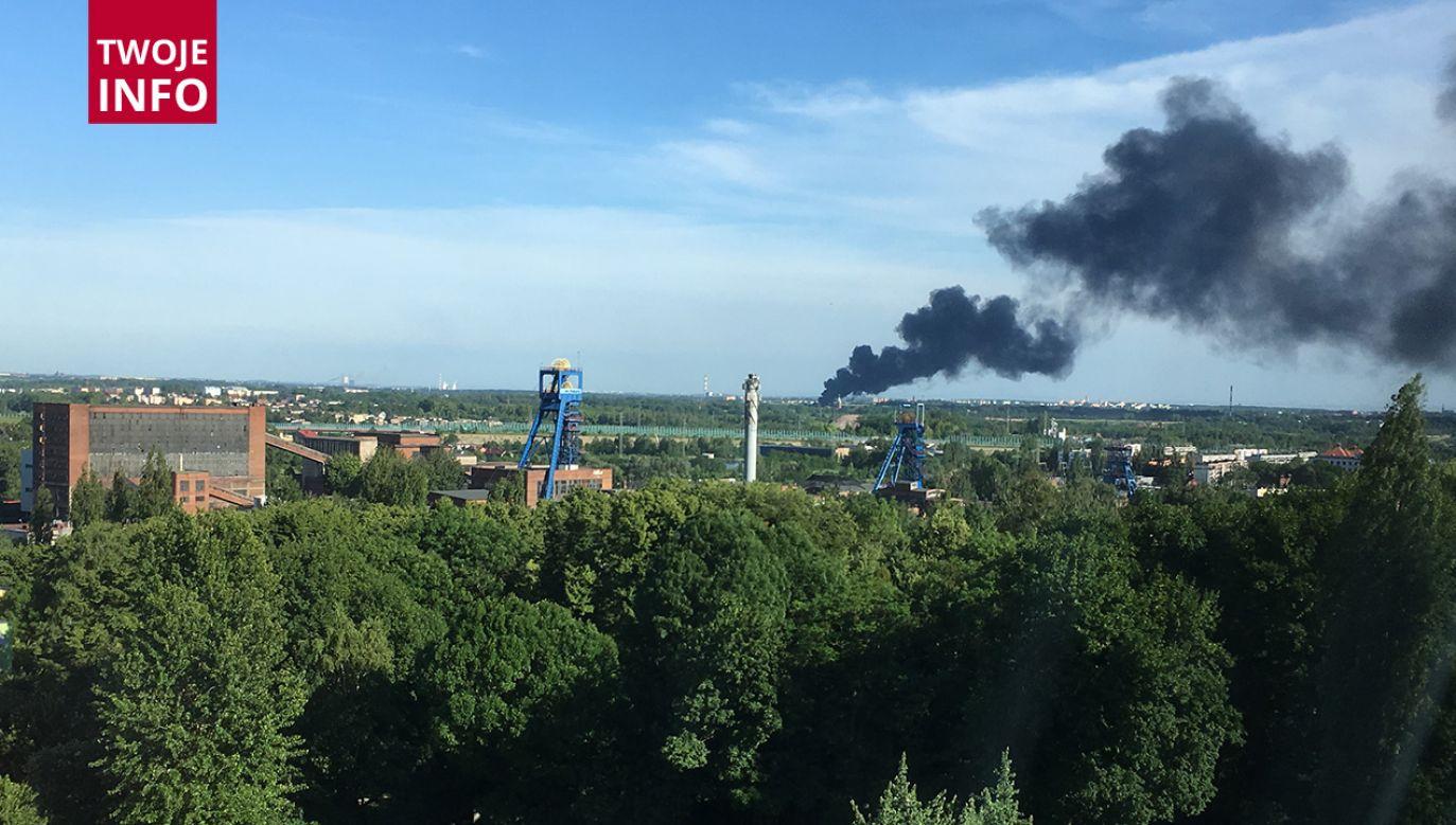 Kilkananście jednostek straży pożanej walczyło z pożarem składu makulatury (fot. Twoje info)