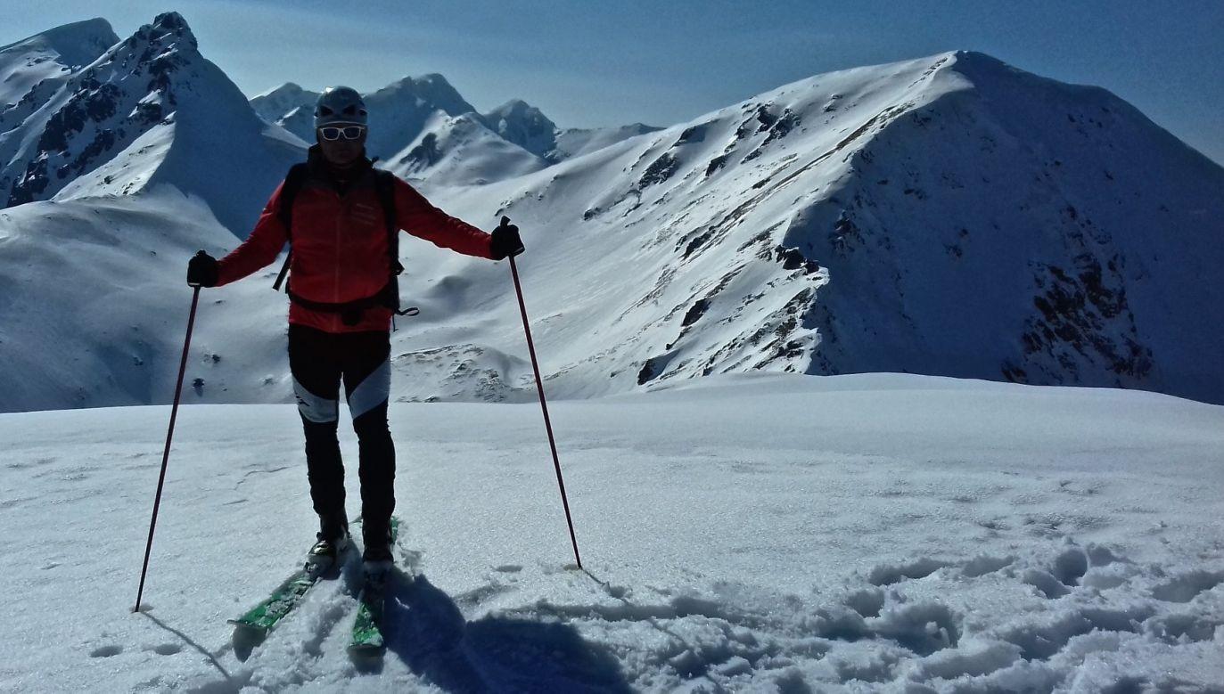 Altogether Wojciech Szatkowski spent exactly 100 days in the mountains and skied more than 1000 km. Photo: Facebook/Narciarstwo Wolności - Wojciech Szatkowski