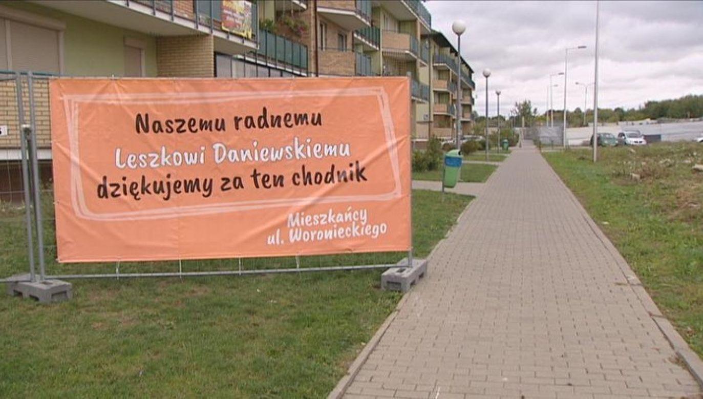 Baner przy ul. Woronieckiego w Lublinie (fot. TVP3 Lublin)