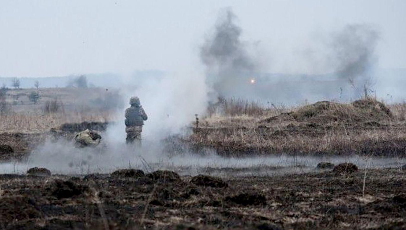 Starcia separatystów z armią ukraińską w rejonie Donbasu (fot. TT/UNIAN.info)