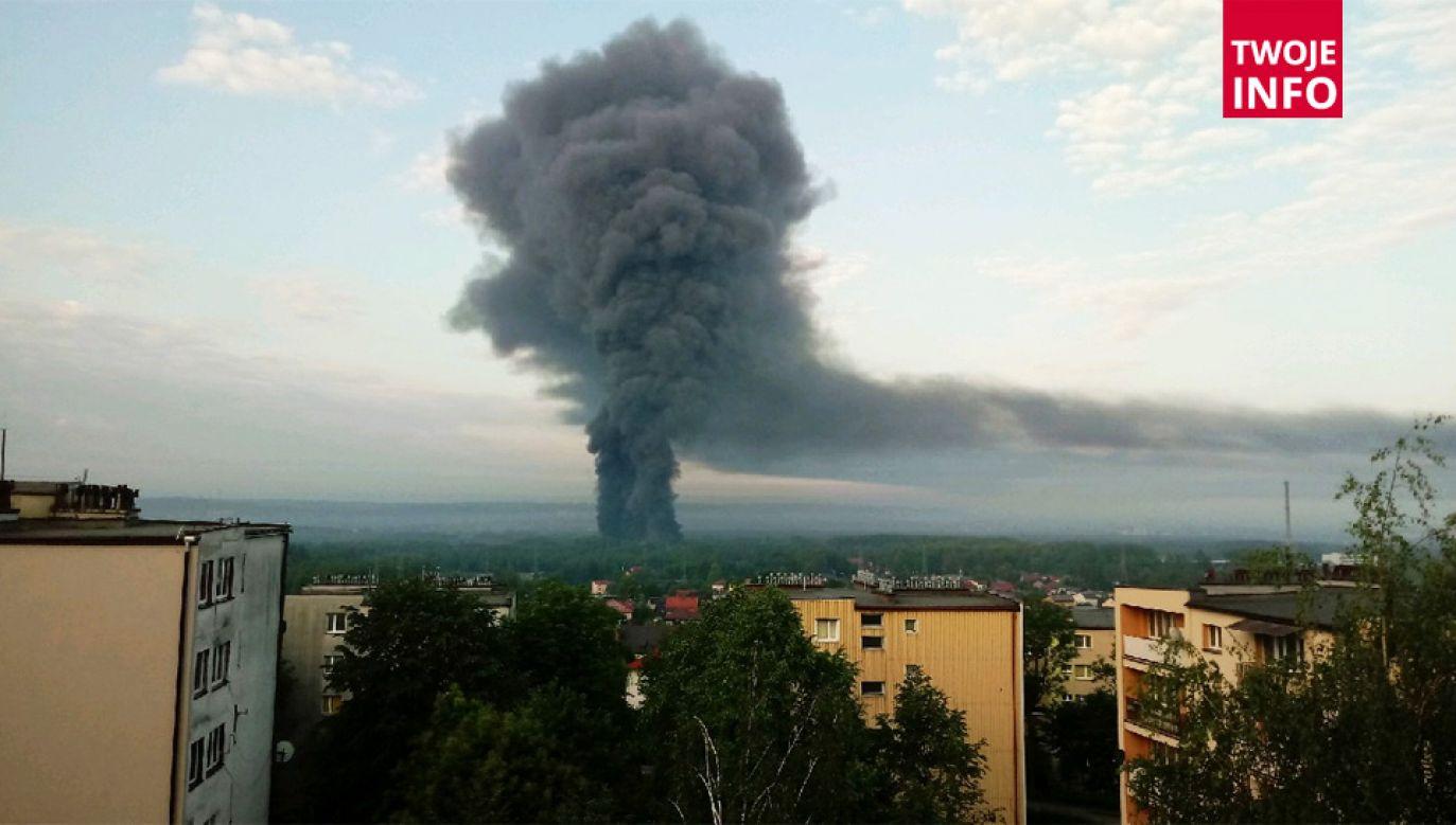 Pożar widać z odległości wielu kilometrów (fot. Twoje Info)