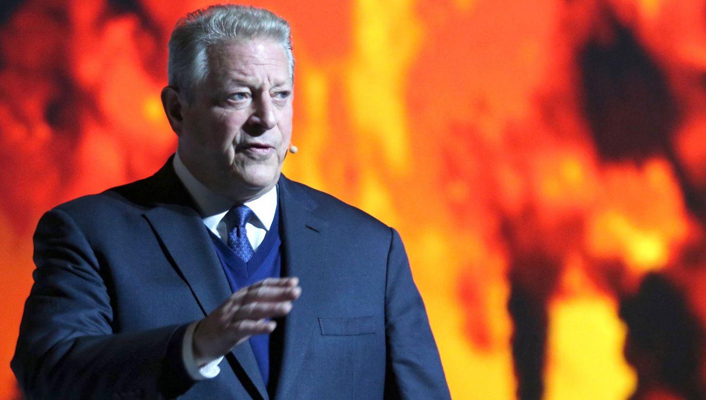 Były wiceprezydent Stanów Zjednoczonych, laureat Pokojowej Nagrody Nobla Al Gore podczas wystąpienia