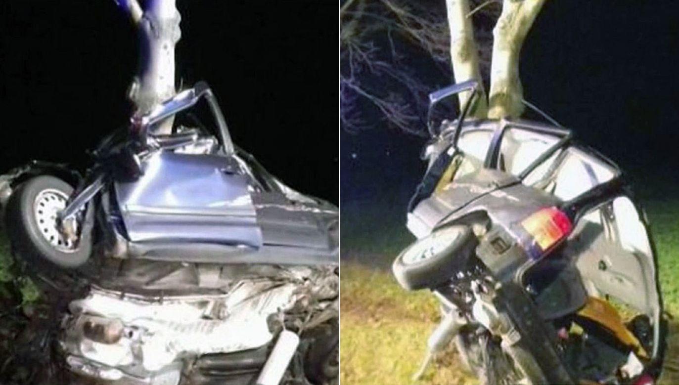 Policja pod nadzorem prokuratora ustala przyczyny wypadku (fot. TVP)