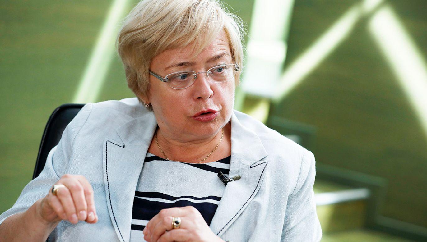 Gersdorf podkreśliła, że nigdy nie miała wątpliwości, że jest obecnie I prezesem SN (fot.REUTERS/Kacper Pempel)