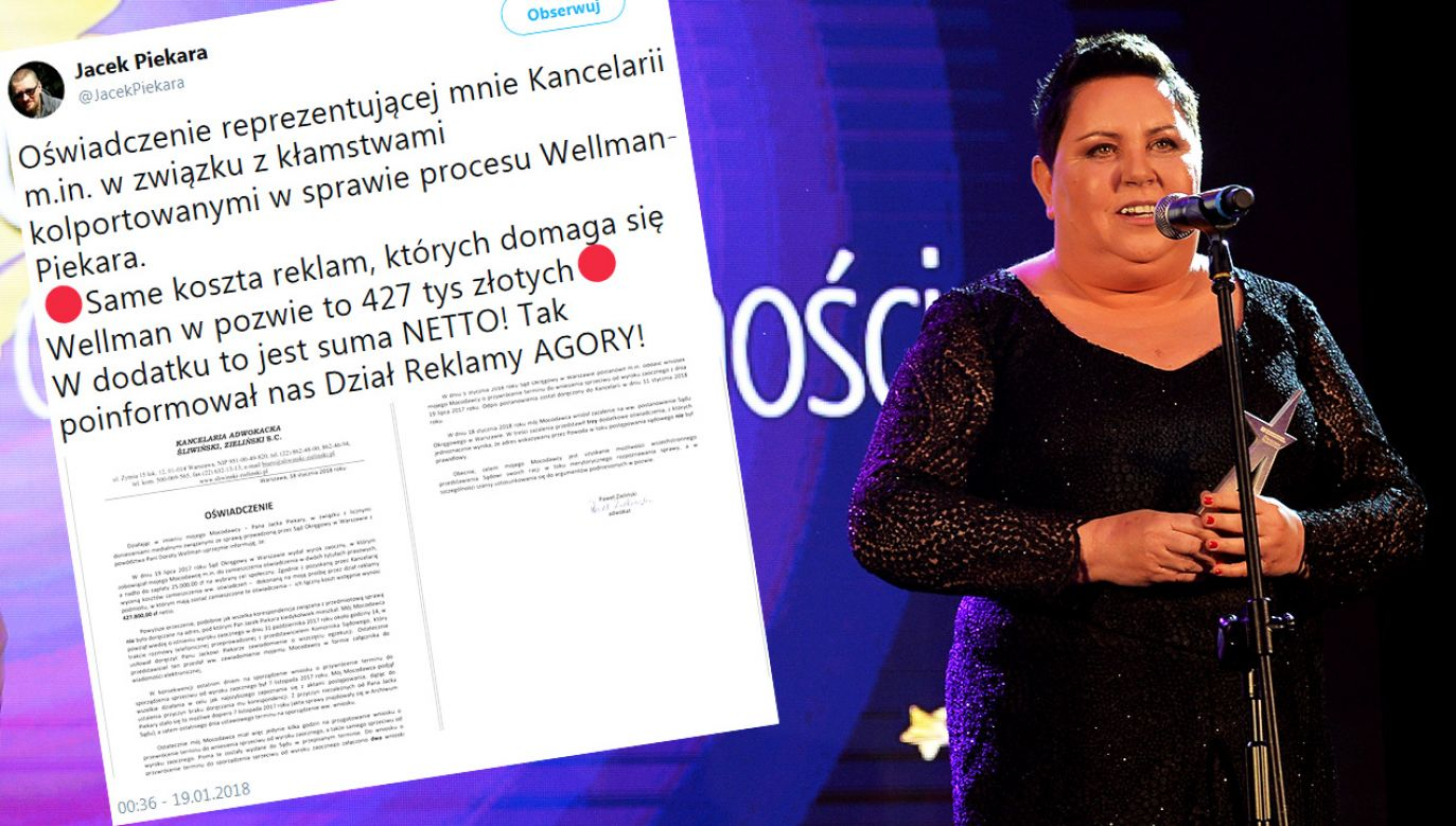 Jacek Piekara odpowiada Dorocie Wellman (fot. arch.PAP/Marcin Obara/tt/@JacekPiekara)