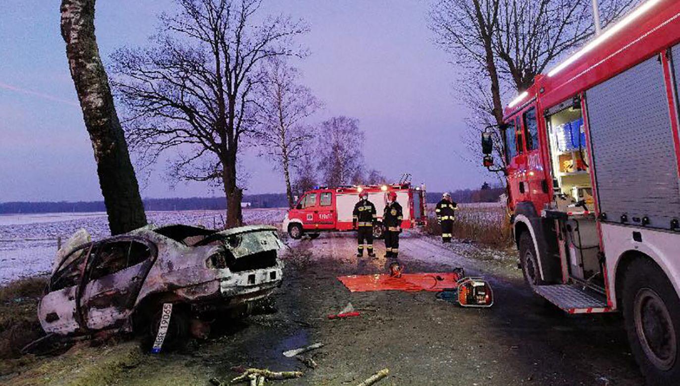 W wypadku zginęło pięć osób (fot. fb/Portal Braniewo)