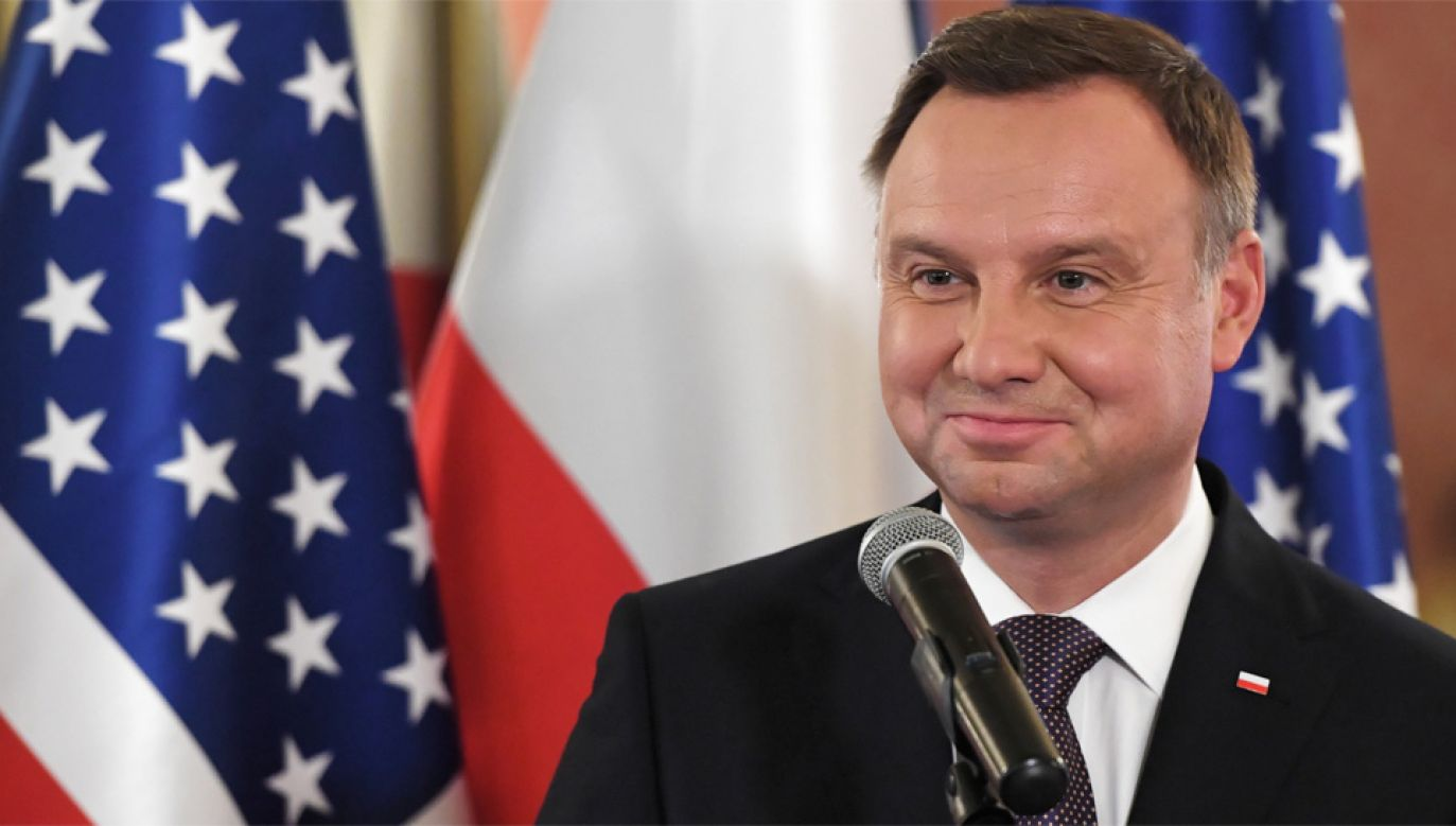 Prezydent Andrzej Duda spotkał się z przedstawicielami Polonii (fot. PAP/Radek Pietruszka)