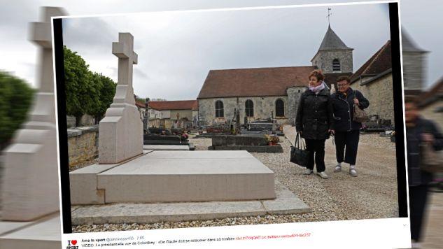 Wandale zniszczyli grób generała de Gaulle'a (fot. twitter.com/amolosport80)