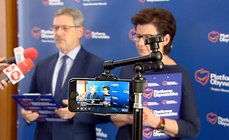 Z przedstawicielami mediów spotkali się Anna Wasilewska oraz Janusz Cichoń