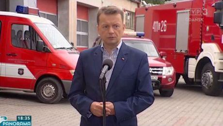 Minister Mariusz Błaszczak z wizytą u strażaków