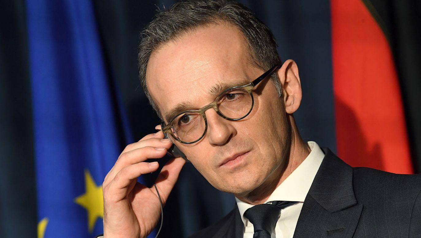 Minister Spraw Zagranicznych Niemiec Haiko Maas (fot.  REUTERS/Clodagh Kilcoyne)