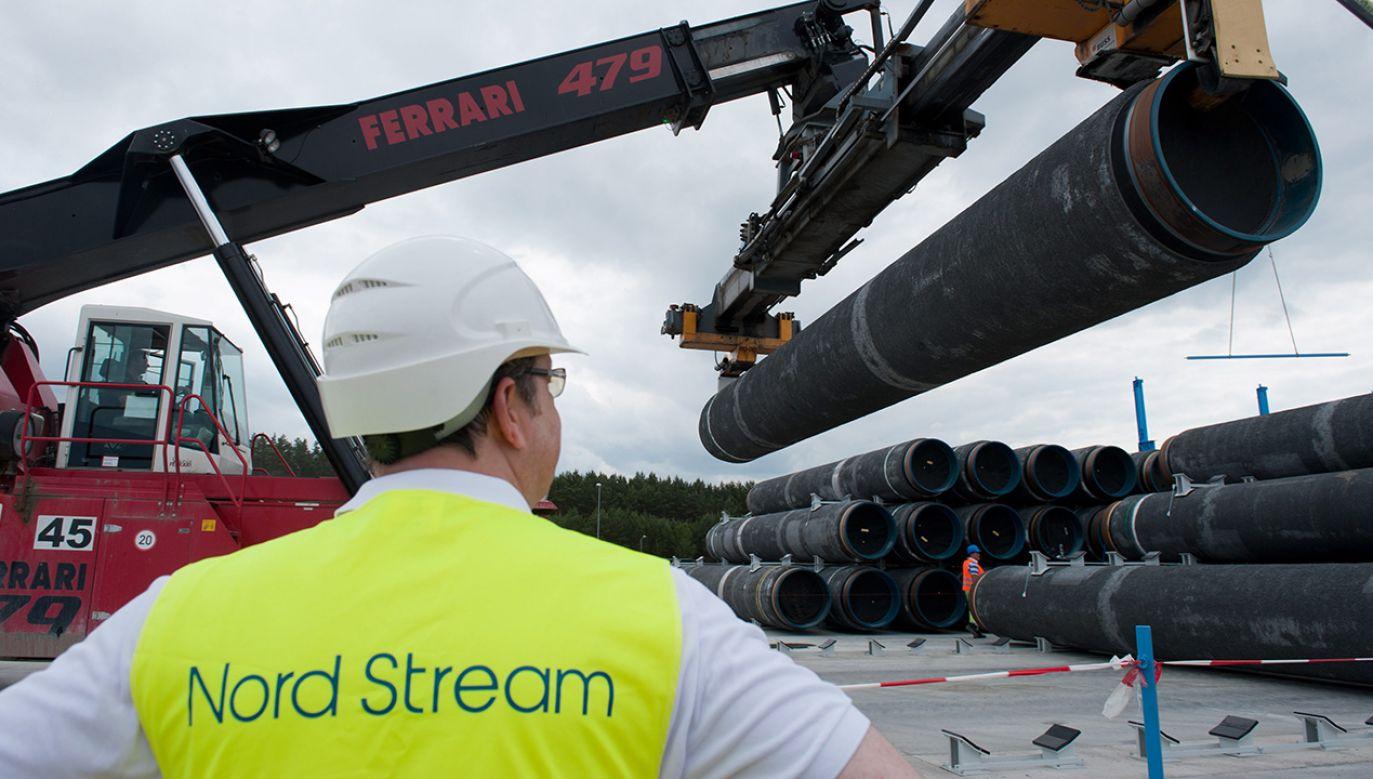 """Nowy gazociąg """"umożliwia Moskwie rozgrywanie krajów europejskich przeciwko sobie"""" – zaznacza """"FT"""" (fot. PAP/EPA/STEFAN SAUER)"""