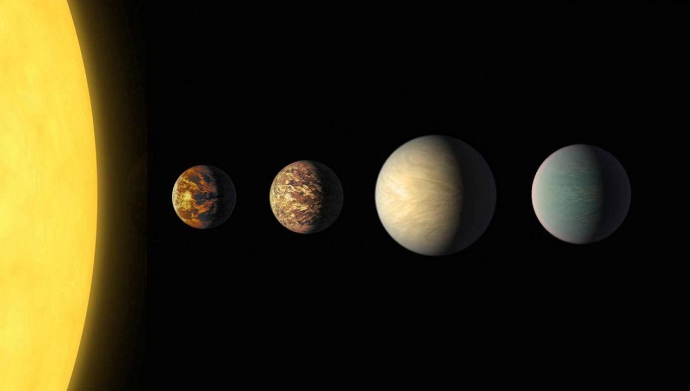 Naukowcy szukają planet krążących wokół gwiazd  innych niż Słońce (fot. NASA/JPL-Caltech/R. Hurt, T. Pyle (IPAC), UTokyo/J. Livingston)
