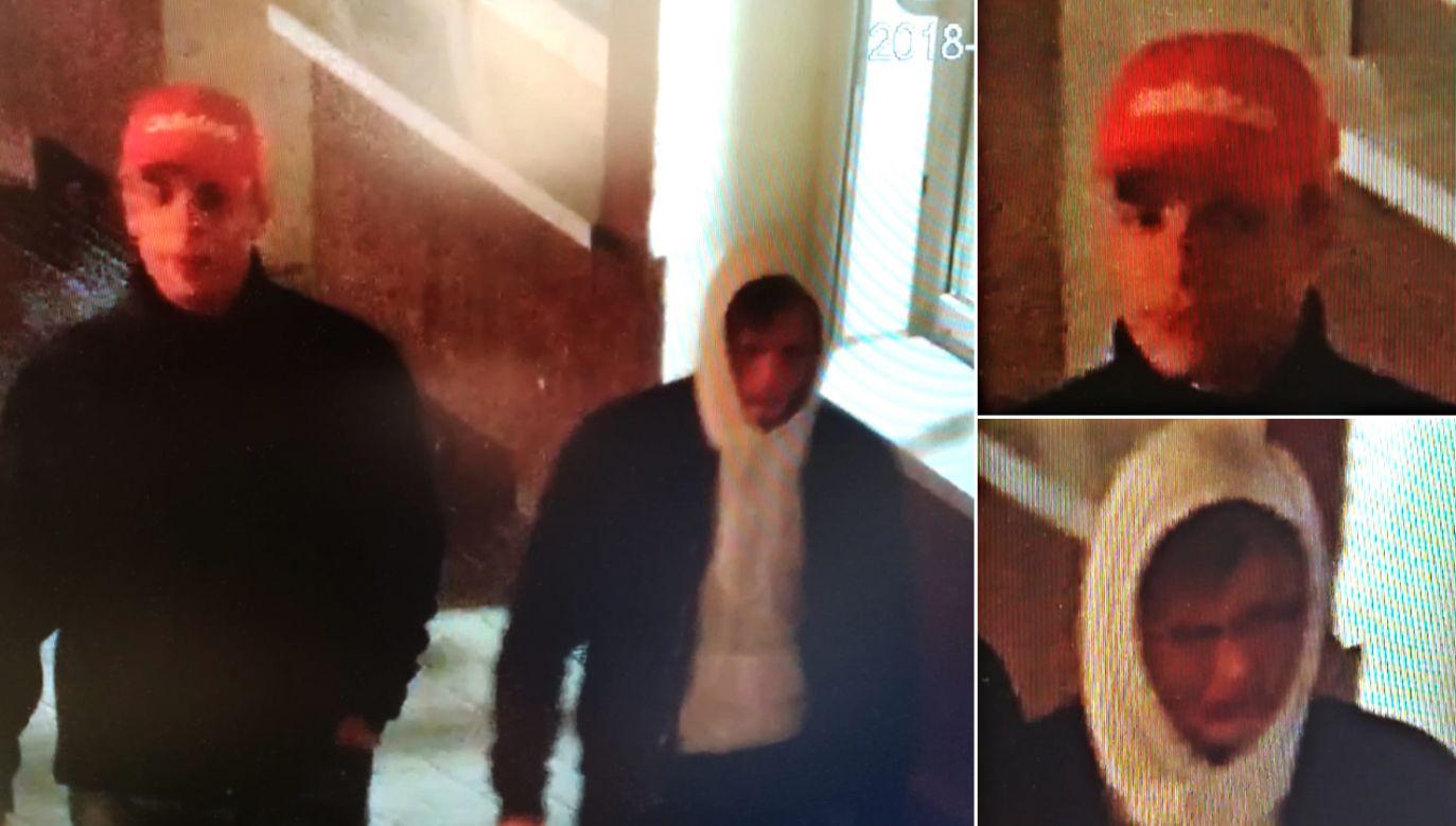 Wizerunek dwóch mężczyzn uwieczniony chwilę po zdarzeniu (fot. pila.policja.gov.pl)