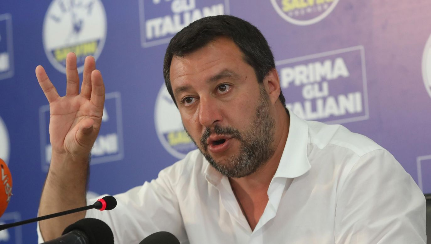 Matteo Salvini zacytował św. Jana Pawła II na Twitterze (fot. PAP/EPA/MATTEO BAZZI)