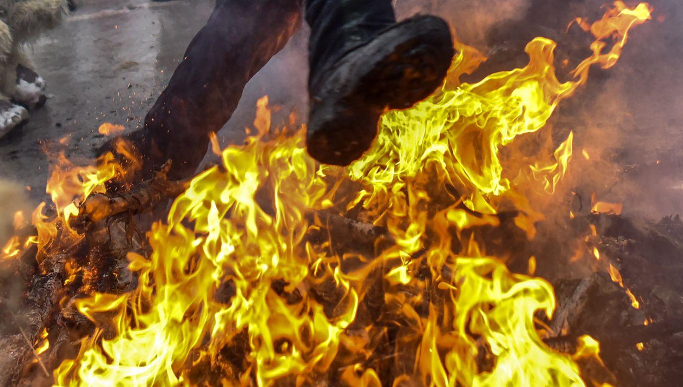 Radni zapewnili, że płomienie nadzorowali strażacy (fot. PAP/EPA/GEORGI LICOVSKI, zdjęcie ilustracyjne)
