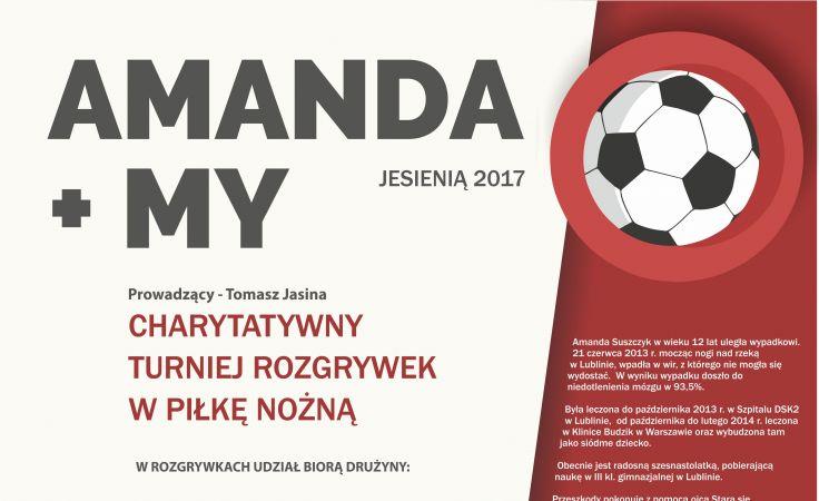 Amanda + My (plakat organizatora)