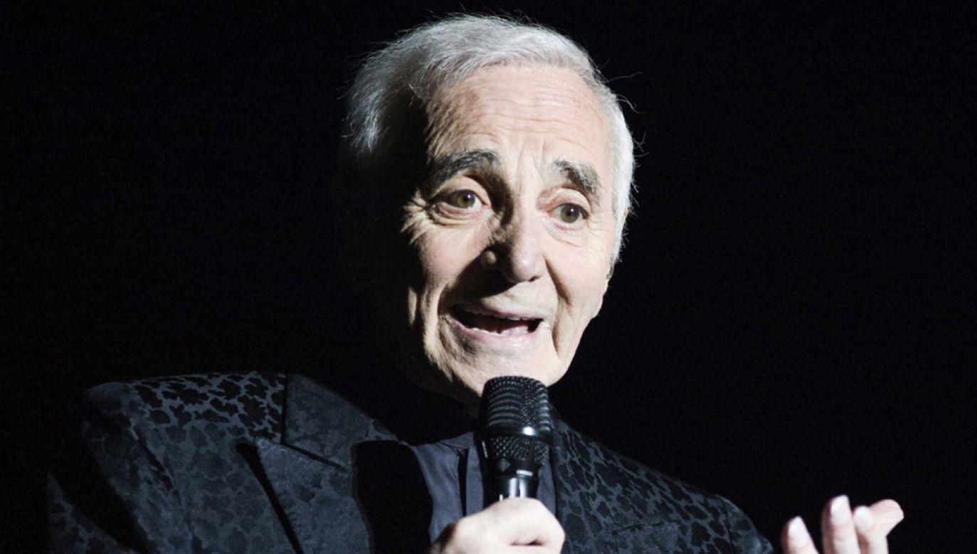 Charles Aznavour zmarł w wieku 94 lat (fot. PAP/EPA/LUCA PIERGIOVANNI)