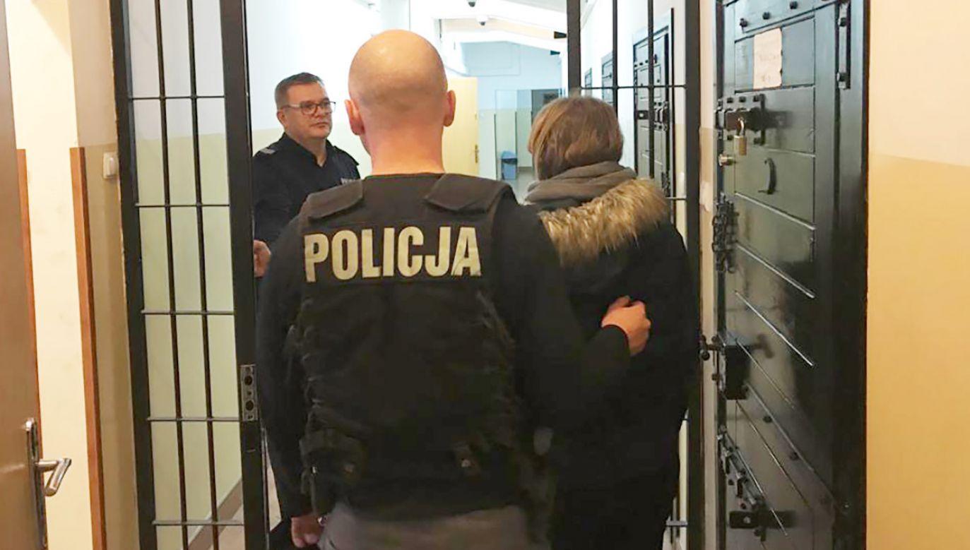 Kobiecie grozi do 5 lat więzienia (fot. KPP w Elku)