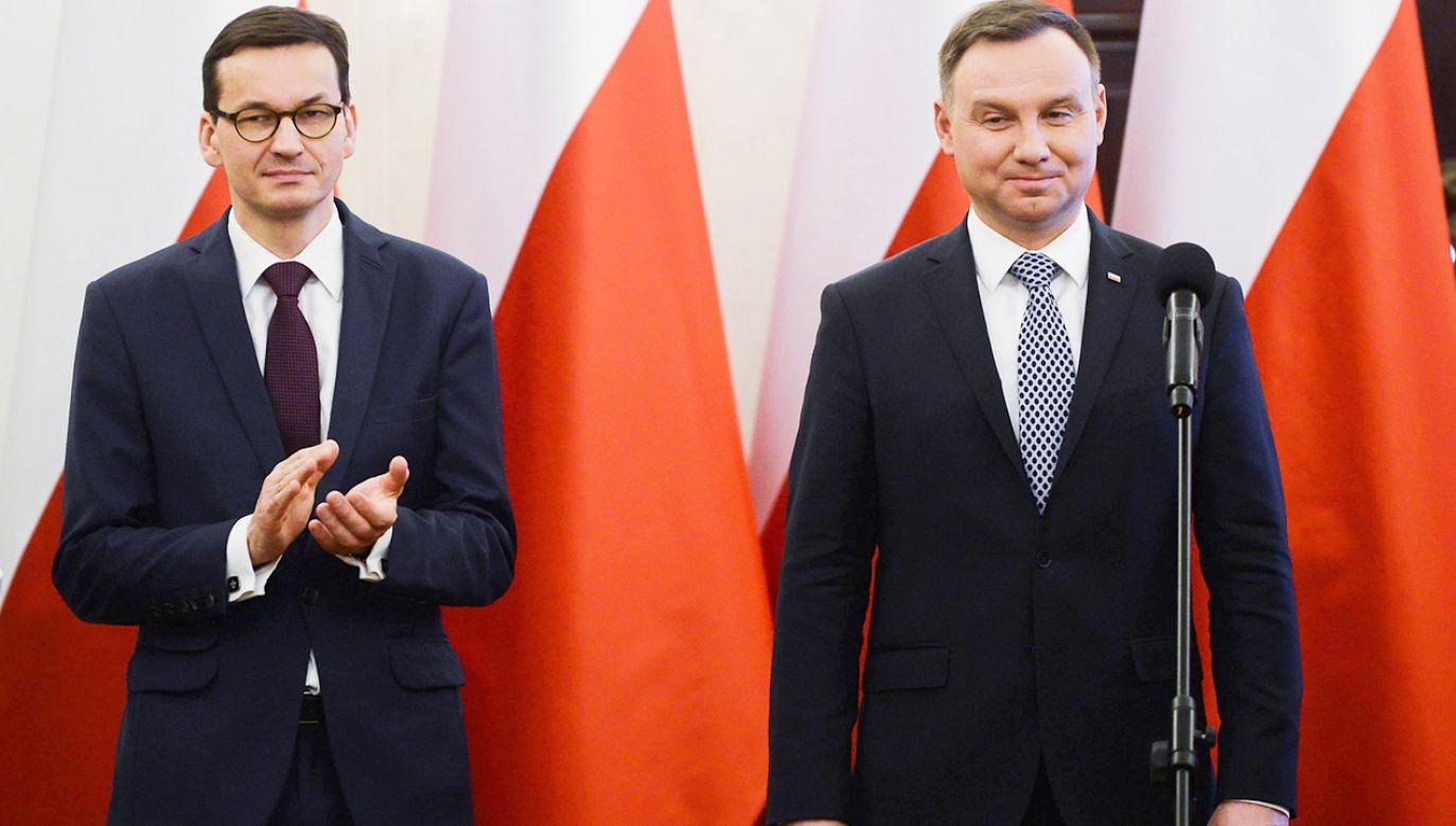 Wg Kantar Public poprawiły się notowania rządu i premiera Morawieckiego (fot. arch.PAP/Jakub Kamiński)