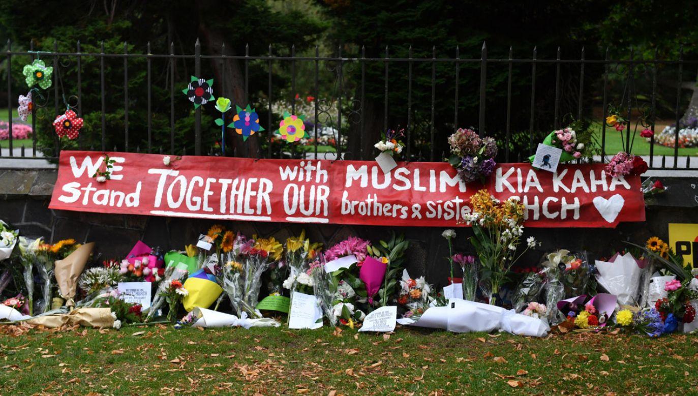 W atakach na meczety w Christchurch zginęło 50 osób (fot. PAP/EPA/MICK TSIKAS)