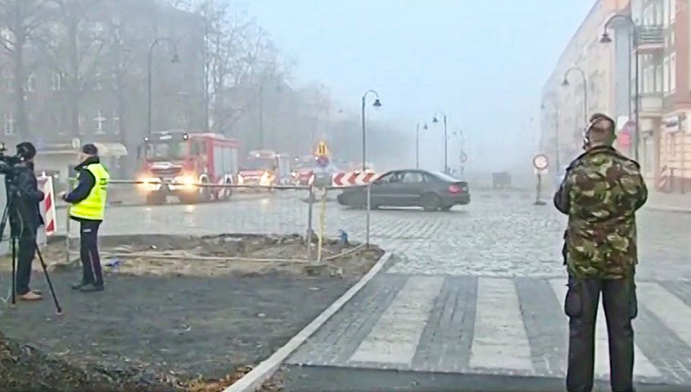 Bomba została znaleziona w środę w centrum miasta  (fot. Fakty TVP3 Wrocław)