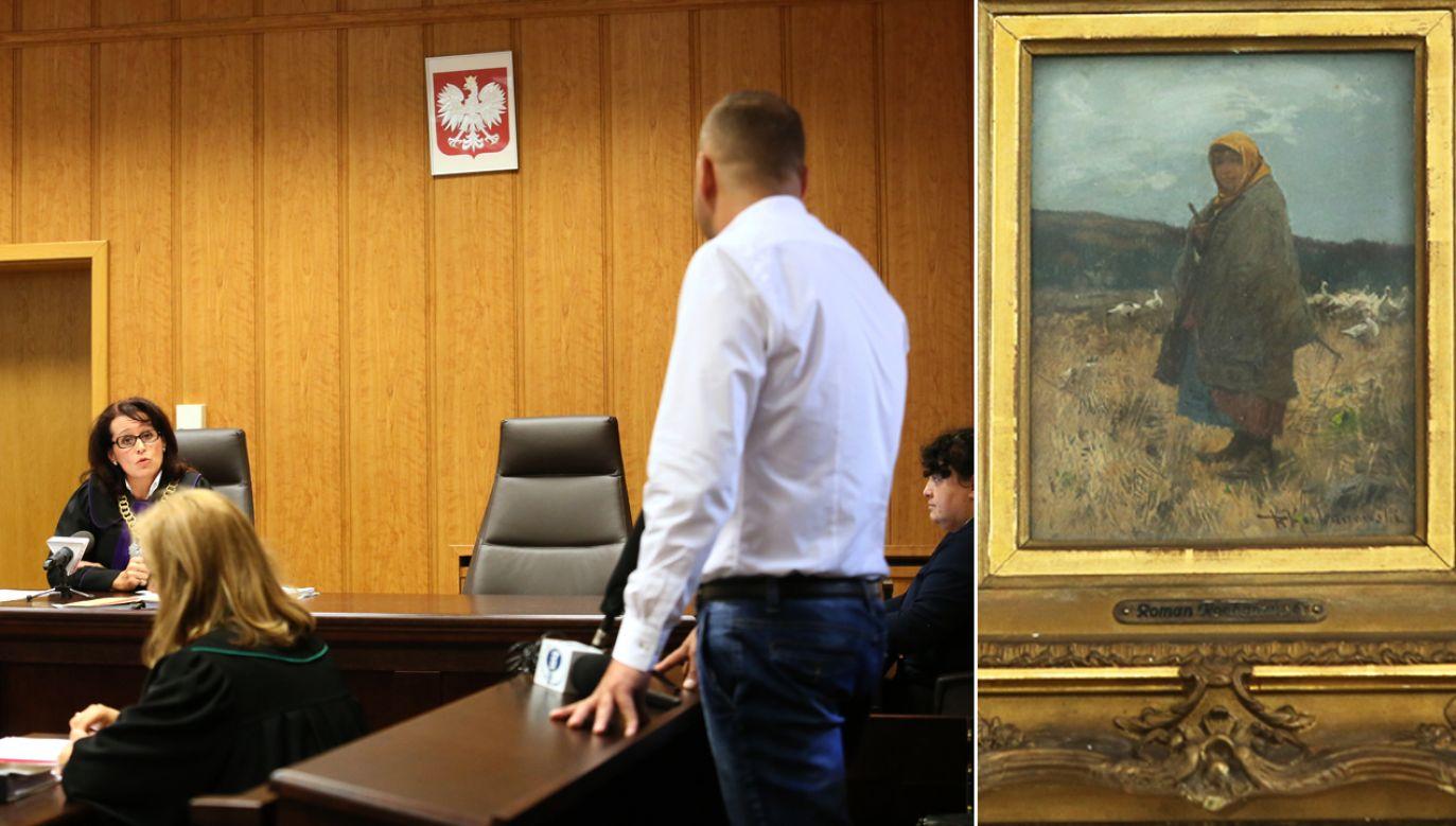 Obraz został ujawniony w jednym z warszawskich domów aukcyjnych, gdzie wystawiono go na sprzedaż w czerwcu 2015 r. (fot. arch. PAP/Leszek Szymański/Rafał Guz)