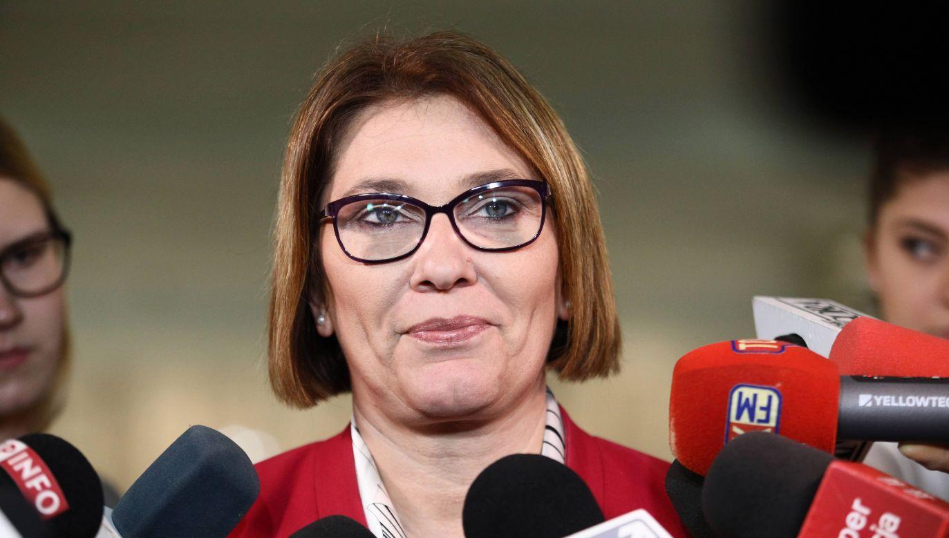 PO i Nowoczesna ciągle do siebie o coś apelują – mówi Beata Mazurek, rzecznik PiS (fot. PAP/Leszek Szymański)