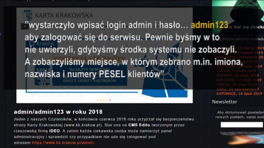 b963f01ae5f9a1 Wyciek danych w systemie Krakowskiej Karty Miejskiej - TVP3 Kraków ...