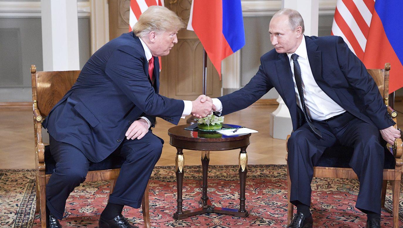 Putin dopiął swego: w końcu dochodzi do szczytu z Trumpem (fot. PAP/EPA/ALEXEY NIKOLSKY/SPUTNIK/KREMLIN )