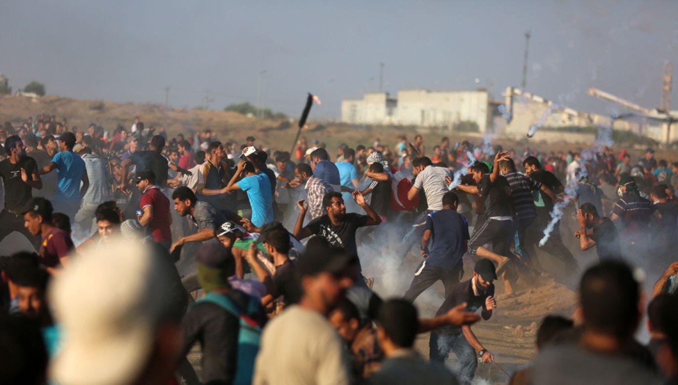 Cotygodniowe protesty w Strefie Gazy rozpoczęły się w marcu (fot. źródło: Majdi Fathi/NurPhoto via Getty Images)