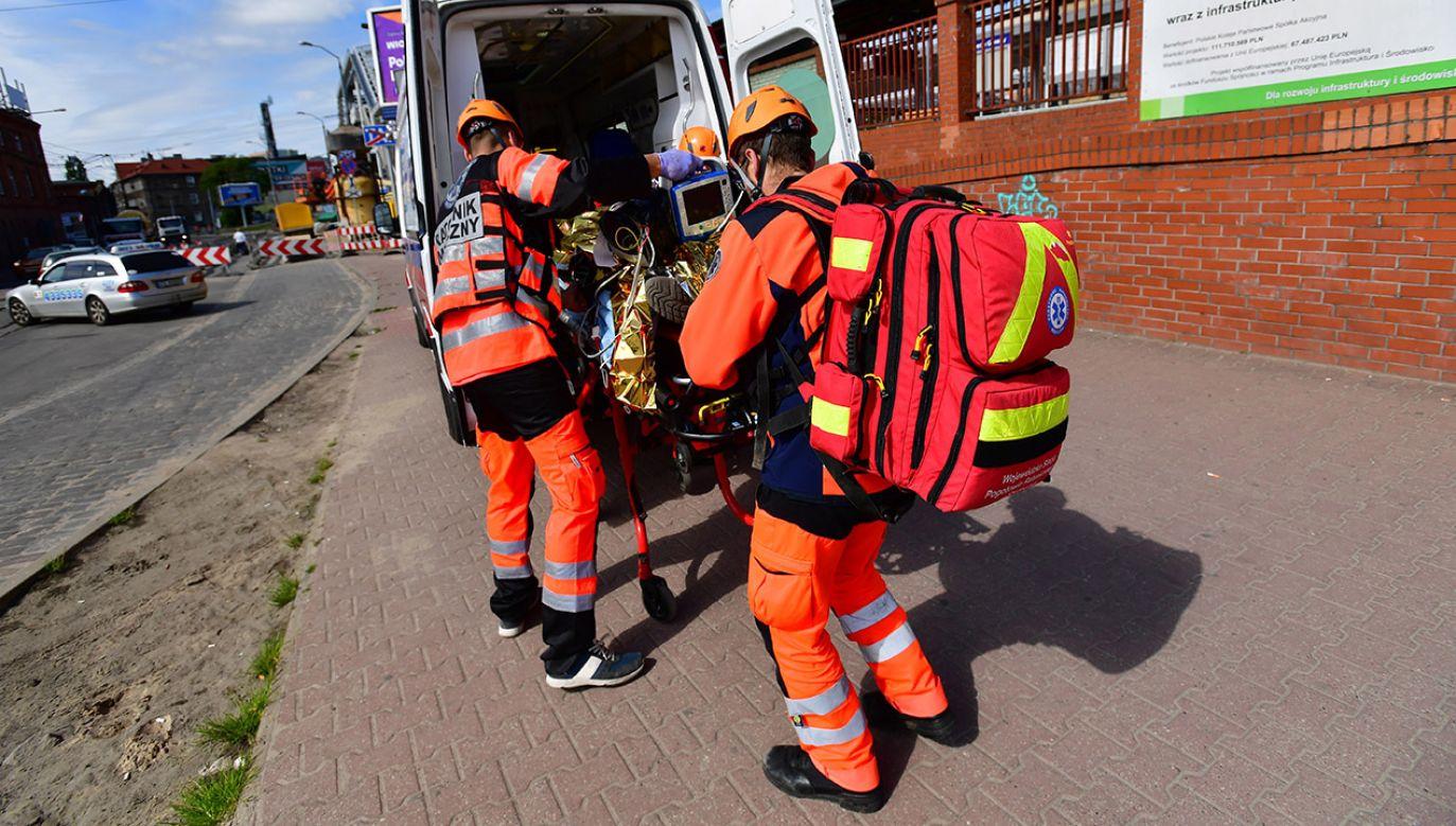W miejscu zdarzenia lądował śmigłowiec LPR (fot. PAP/Marcin Bielecki, zdjęcie ilustracyjne)