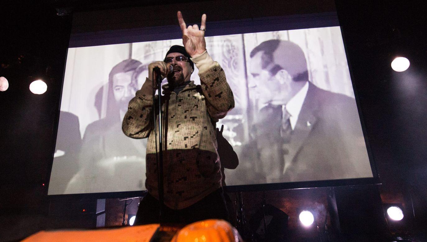 Luty 2018. Andrzej Dziubek, występujący też jako Andrej Nebb, z grupą De Press na koncercie w Oslo. Fot. Gonzales Photo/Per-Otto Oppi/PYMCA/Avalon/Universal Images Group via Getty Images