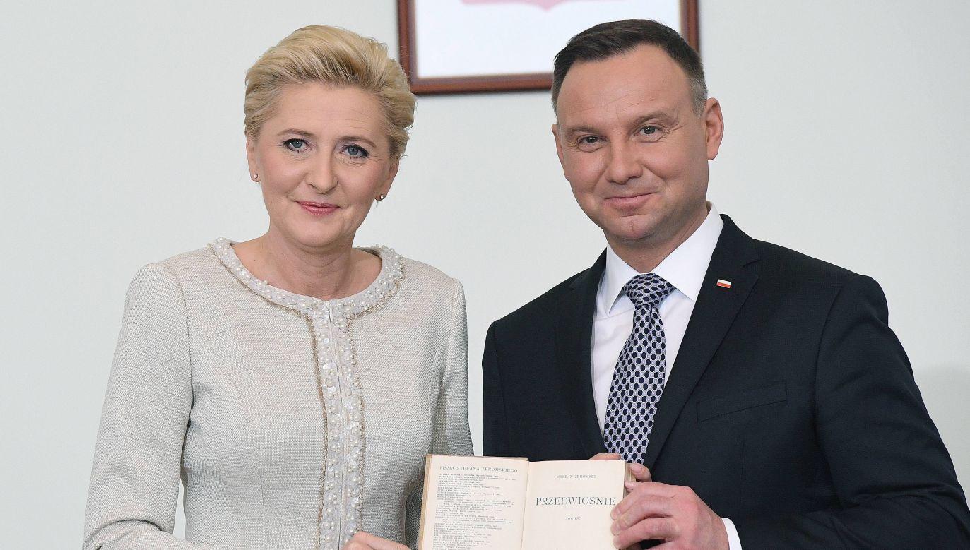 Polish President Andrzej Duda and the First Lady Agata Kornhauser-Duda. Photo: PAP arch./Radek Pietruszka