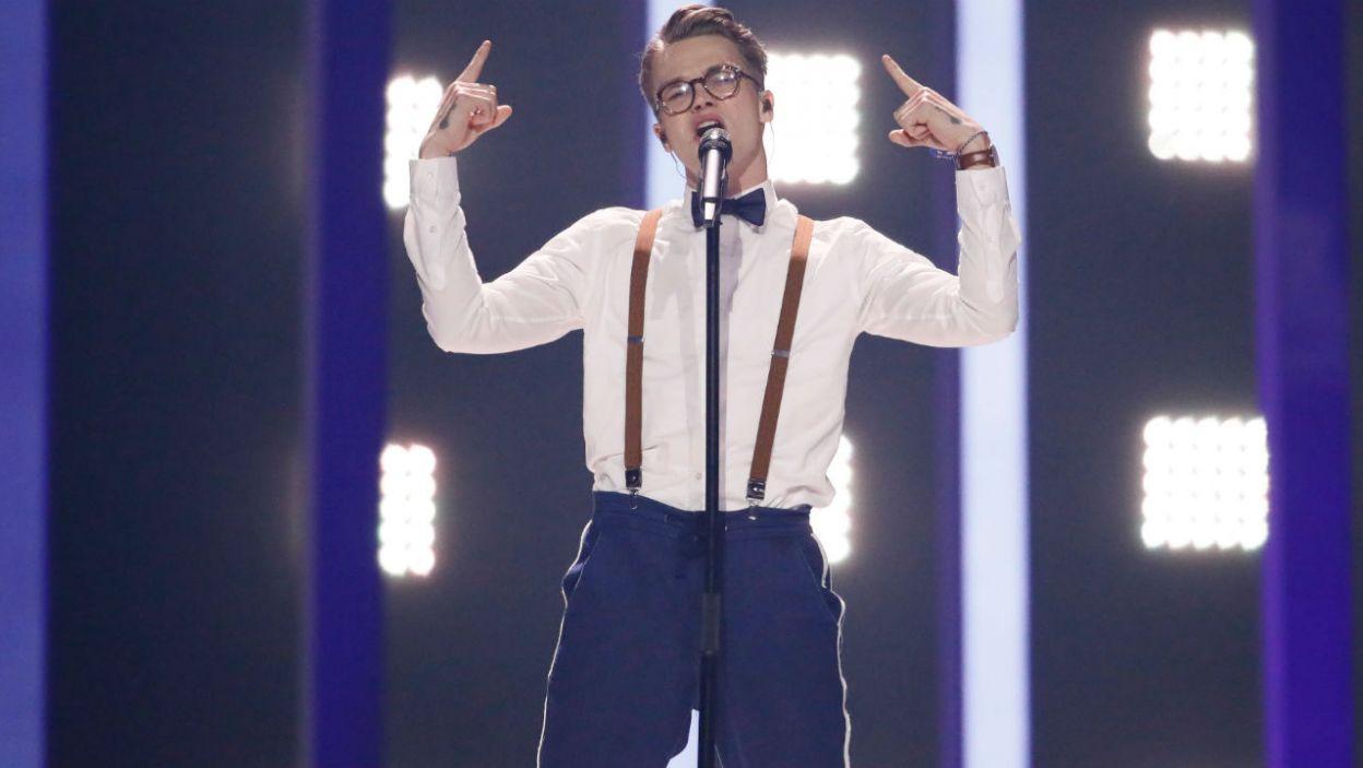 """Wpadający w ucho utwór """"Lie To Me"""" wykonuje Mikolas Josef z Czech (fot. Andreas Putting/eurovision.tv)"""