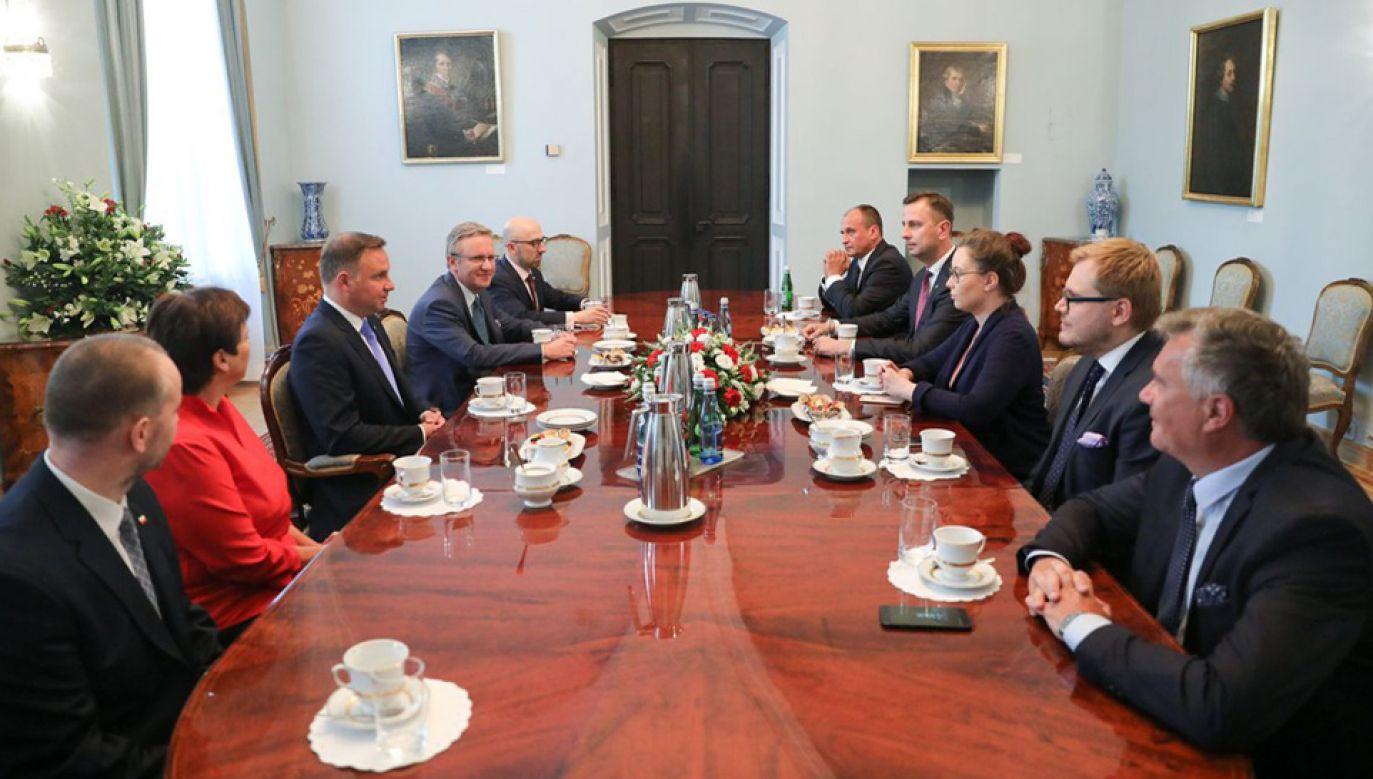 Spotkanie u prezydenta Andrzeja Dudy (fot. KPRP/Jakub Szymczuk)