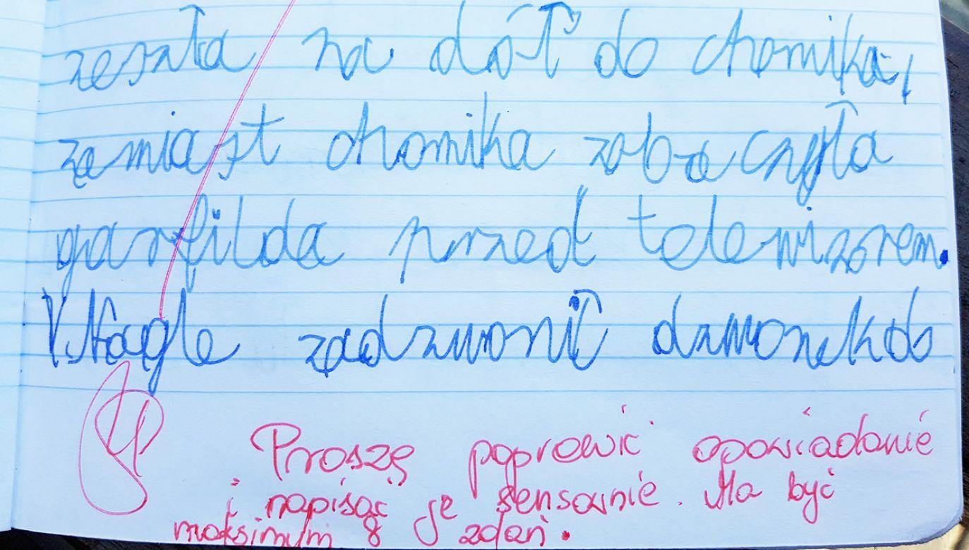 """Dziesięcioletni Natan miał dokończyć zdanie, które rozpoczynało się od słów """"Kiedy Magda otworzyła oczy..."""" (fot. FB/Jakub Nag)"""