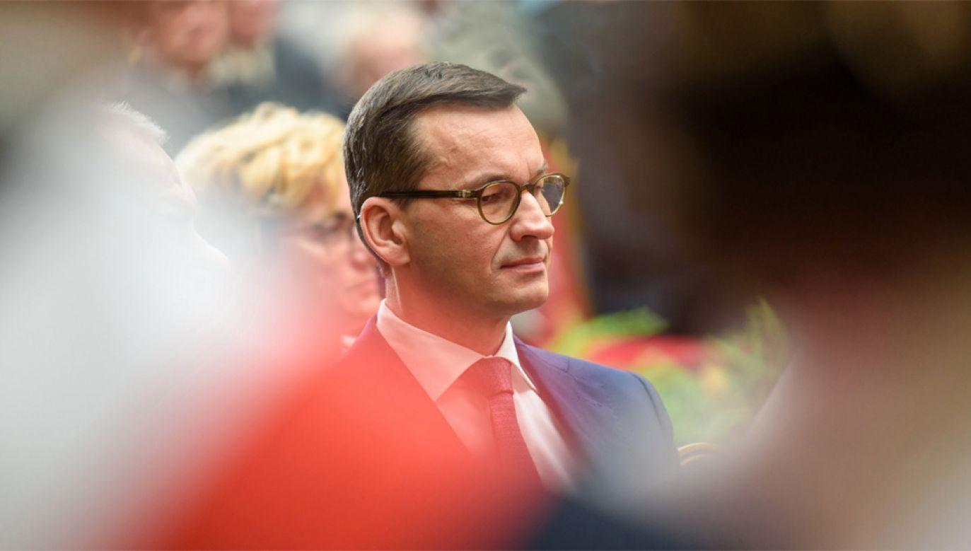 Premier Mateusz Morawiecki zaapelował o wzajemny szacunek (fot. PAP/Paweł Topolski)