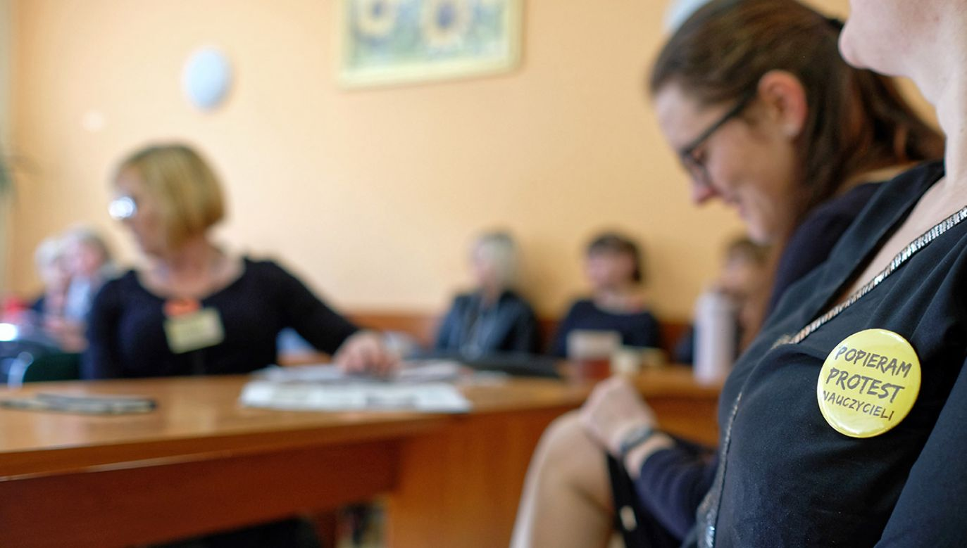 Strajk nauczycieli trwa od 8 kwietnia (fot. PAP/Andrzej Grygiel, zdjęcie ilustracyjne)