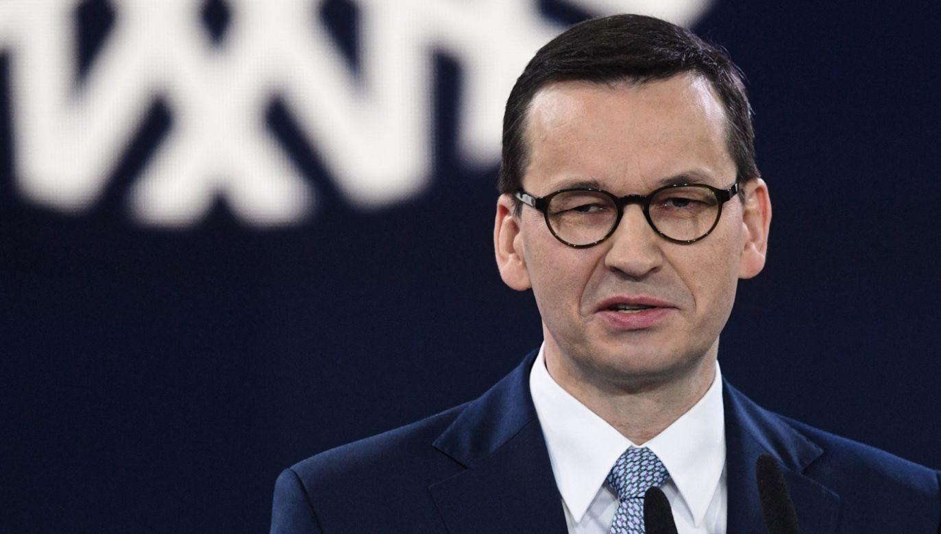 Premier Morawiecki przedstawił szczegóły dotyczące nowego programu PiS-u (fot. PAP/Radek Pietruszka)