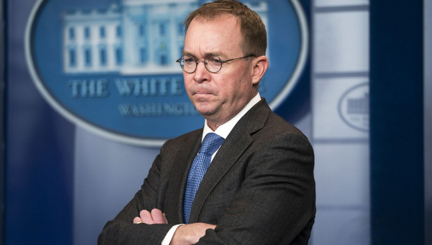 Mick Mulvaney będzie tymczasowo sprawował funkcję szefa kancelarii prezydenta Trumpa  (fot. PAP/EPA/JIM LO SCALZO)